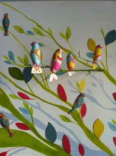 Mural con rama. Cecilia M Páez Sweet Home, Paper, Interior, Bb, Decorating Ideas, Rooms, Painting, Natural, Outfits