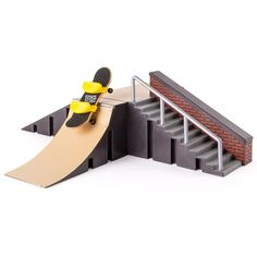Ramp Set and Board Tech Deck Starter Kit Pipe Rails Wall Ramp Stairs Grinding Skateboard Rack, Finger Skateboard, Bmx, Real Skate, Ramp Stairs, Pipe Railing, Tech Deck, Toys R Us Canada, Cool Skateboards