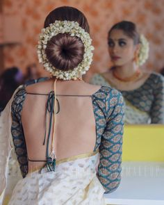 30 Best Floral Bridal Bun Hairstyles For This Wedding Season! 30 Best Floral Bridal Bun Hairstyles For This Wedding Season! Indian Blouse Designs, Blouse Back Neck Designs, Saree Blouse Designs, Choli Designs, Blouse Patterns, Saree Hairstyles, Indian Bridal Hairstyles, Flower Girl Hairstyles, Trendy Hairstyles