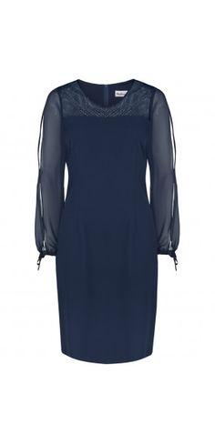 SUKIENKI WIZYTOWE Cold Shoulder Dress, Dresses For Work, Fashion, Moda, Fashion Styles, Fashion Illustrations