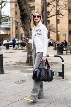 Street style à la Fashion Week automne-hiver 2017-2018 de Londres : model off duty
