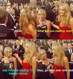 This is so funny because her mom basically revealed that she was going to be in The Hunger Games and Jennifer got so nervous.