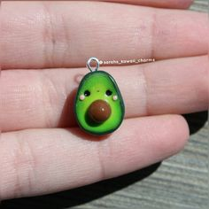 Kawaii avocado charm!Hope you like it! . . . #avocado #avocadocharm #charm #cute #kawaii #kawaiifood #kawaiiavocado #food #fakefood #little #sarahskawaiicharms #amazing #awesome #insta #instagram #instagood #instadaily #follow #followme