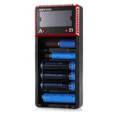 HXY-H6 LCD Display Smart Battery Charger For LiFePO4/Li-ion/Ni-MH/NiCd
