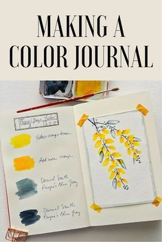 Keeping a color journal may be the best thing you can do for your mixed-media art; discover ways to explore color in unique art journal pages. Art Journal Pages, Journal D'art, Journal Challenge, Journal Ideas, Bullet Journal, Art Journals, Journal Paper, Drawing Journal, Art Pages
