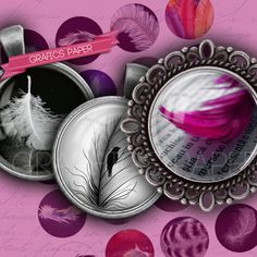 Feathers and plumage  digital collage sheet  td68 by GraphicsPaper