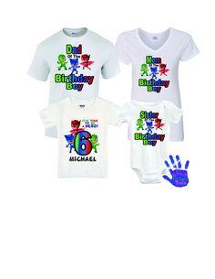 PJ Mask Birthday Shirt, PJ Mask Family Birthday Shirts