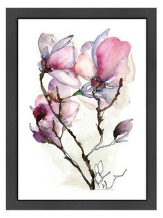 Magnoila 3 by Claudia Libenberg (Framed) by Americanflat at Gilt
