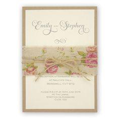 Antique Rose Parcel | Pure Invitation Wedding Invites