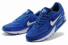40790b424d0b Wholesale 2014 Latest Nike Air Max 90 Men Running Shoes Blue White Nike Air  Max 90s