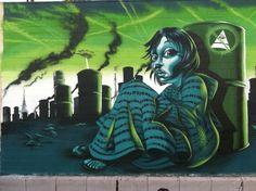 Mear One Anti-illuminati Murals