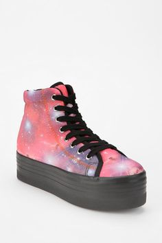 Jeffrey Campbell. HOMG Cosmic High-Top Flatform-Sneaker.  I could use a little Pizzazz and a little HEIGHT!!!