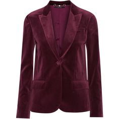 Gucci Velvet blazer (54.935 UYU) ❤ liked on Polyvore featuring outerwear, jackets, blazers, tops, giacche, velvet blazer, purple blazer, velvet jacket, purple jacket and gucci