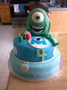 Monsters Inc.  cake  for Ryan's 4th birthday