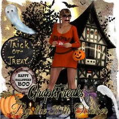 "GraphFreaks: CT Tags and Snags for GraphFreaks and Bibi's Collection Here is my second tag with this cute and fun tube,  this time using a kit by Bibi's Collection called  ""Eva's Halloween"" PTU, pack with tons of magical elements and papers, available now only at  Scraps & Company http://graphfreaks.blogspot.co.uk/2015/10/ct-tags-and-snags-for-graphfreaks-and.html"