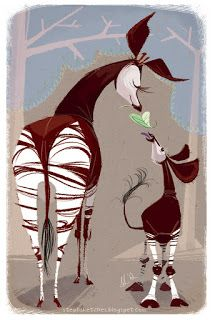 mama and Gus okapi