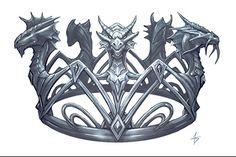 Objets - Bijoux -couronne roi des dragons