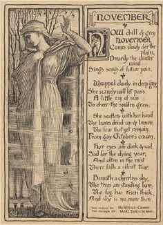 November: Poem and Image 1889