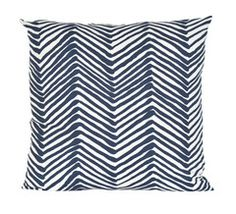 Navy Zig Zag Pillow, Society Social good source for pillows