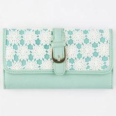 Daisy Crochet Wallet 257282523 | Wallets