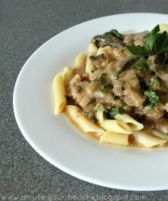 Vegetarian recipes mushroom Slow cooker mushroom stroganoff - Amuse Your Bouche---sub Earth Balance and sub cashew sour cream