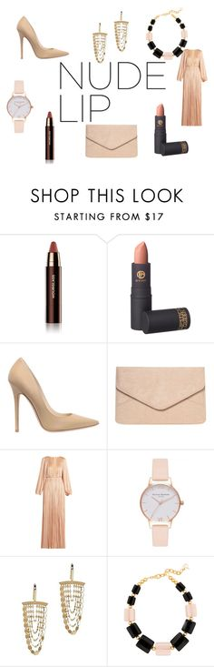 """""""A Collection of Nudes"""" by cutie56posh ❤ liked on Polyvore featuring beauty, Hourglass Cosmetics, Lipstick Queen, Jimmy Choo, Dorothy Perkins, Maria Lucia Hohan, Olivia Burton, Lana Jewelry, DIANA BROUSSARD and Nudes"""