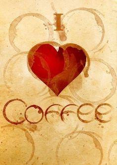 Love  Coffee heart