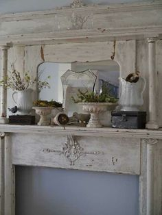 Mantel  Decorations : IDEAS &  INSPIRATIONS : Beautiful and Luxury Mantels Decorating for Spring