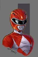 Mighty Morphin Power Rangers Red Ranger color by le0arts