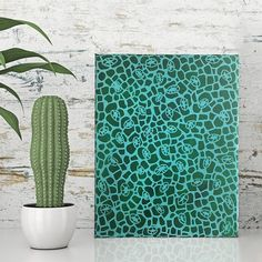 acrylic abstract painting on canvas  natures lace  original