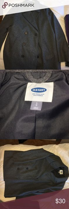 Old Navy wool grey pea coat New! Only wore it once. Length is to your booty. Comfy and stylish Old Navy Jackets & Coats Pea Coats