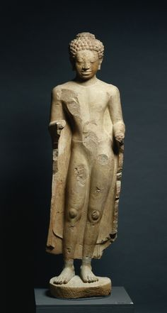 Thailand, probably Shri Thep, Mon-Dvaravati style, sandstone, Overall: h. 132.70 cm (52 3/16 inches); without tang: h. 114.20 cm (44 15/16 inches). Leonard C. Hanna, Jr. Fund 1973.15