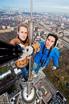 Adrenaline junkee: Rooftoppers aim to get as high and as far out as possible