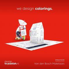 Van den Bosch makelaars B.V.   viert feest, zij bestaan 25 jaar!  @wonenindongen #bouwplaat #kleurplaat #jubileum #designtopublish #krant #design