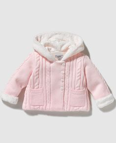 Chaqueta de bebé niña Dulces en rosa con capucha Baby Princess, Baby Knitting Patterns, Baby Wearing, Kids Girls, Sons, Kids Fashion, Baby Boy, Hoodies, Children