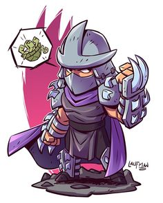 Shredder doesn't want you to forget my BLACK FRIDAY sale ends Monday. You have all weekend to save at www.dereklaufman.com (link in my profile) He also wants you to know that he hates turtles. #shredder #tmnt #chibi #fanart #dereklaufman