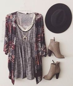 Perfect outfit with boots and hat