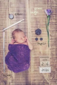 Creation of Announcement Birth - Wedding Photographer, Photobooth, Nord Lille - Natural Photos Sourc Foto Newborn, Newborn Shoot, Faire Part Photo, Birth Announcement Template, Foto Baby, Baby Birth, Baby Kind, Baby Bumps, Baby Pictures