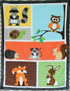 childrens camping pattern quilts - Google Search