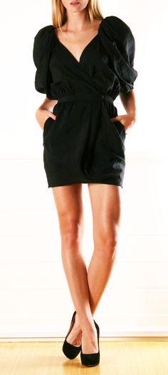 Black Waisted Mini Dress