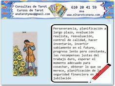 Los Menores del Tarot: SIETE DE OROS Tarot Significado, Tarot Gratis, Cards, Witches, Magic, Spirituality, Tarot Decks, Tarot Cards, Tarot Spreads