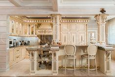 Деревянная кухня в стиле барокко   grandecor.ru