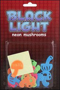 Black Light Reactive Neon Mushroom Stickers Stars Colorful Trippy Psychadelic