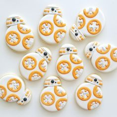Star Wars Cookies | BB8 by The Cookie Gallery