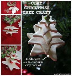 Clay Christmas Tree Ornament