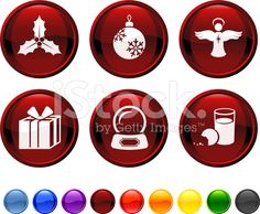 Holiday royalty free vector icon set. royalty-free stock vector art