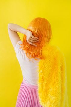 Laurence Philomene is a queer photographer from Canada, her dreamy pastel images address themes of the self, the body and teen identity. Photo Portrait, Portrait Photography, Fashion Photography, Color Portrait, Mellow Yellow, Pink Yellow, Bright Yellow, Bright Colors, Kagamine Rin And Len