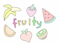 Image about food in overlays by cth on We Heart It Emoji Drawings, Tumblr Drawings, Cute Kawaii Drawings, Easy Drawings, Tumblr Stickers, Cute Stickers, Tumblr Fruit, Tumblr Transparents, Tumblr Png
