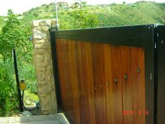 Wood with Iron Gate