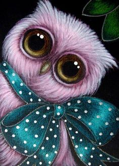 Art 'PINK BABY OWL - YOUR GIFT' - by Cyra R. Cancel from  | (Search Results for 'owl')